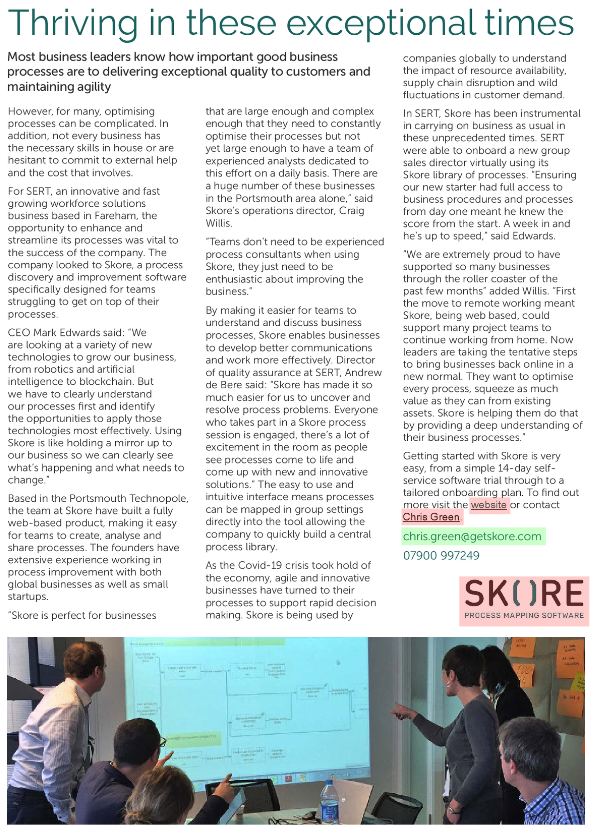 The Business Magazine - focus on Portsmouth article